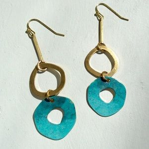 Patina Finish Earrings +Anthropologie Paper Bag